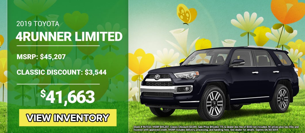 New Car Specials Toyota Dealer In Tyler Tx Classic Toyota